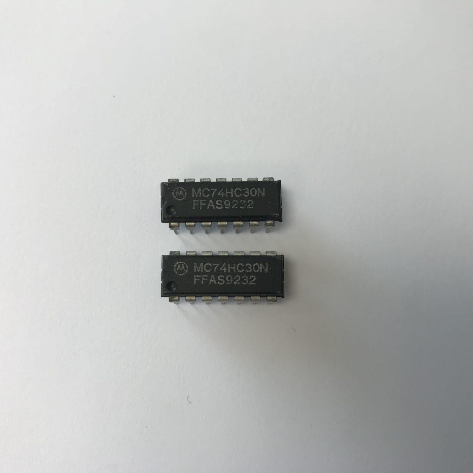 Details About Mc74hc30n Motorola 8 Input Nand Gate Ic New X2pcs 7400 Quad 2input Pin Layout